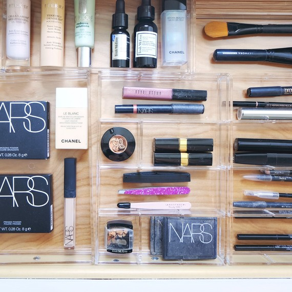 smink drawer organization nars products