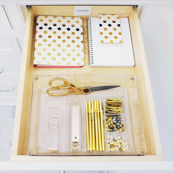 a home edit organized office drawer